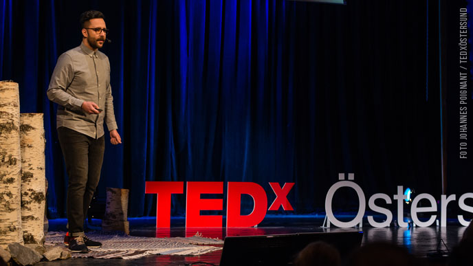 Ashkan Fardost talar om internet of things p� Tedx �stersund